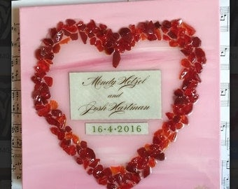 Wedding Heart - Crushed Glass - Made to Order