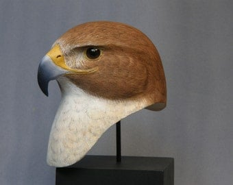 Red Tailed Hawk bust