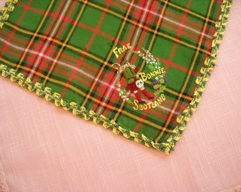 Vintage Souvenir Hanky from Scotland