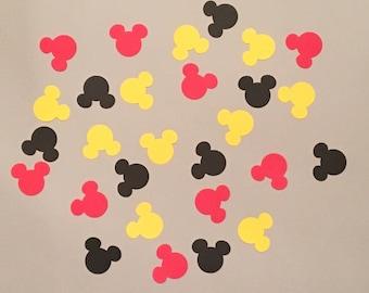 225 Mickey Mouse Confetti Mickey Mouse Birthday Confetti Mickey Mouse Baby Shower Confetti Mickey Mouse Decor Red Yellow Black Confetti