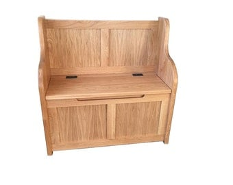 Solid Oak Monks Bench - Settle - Pew
