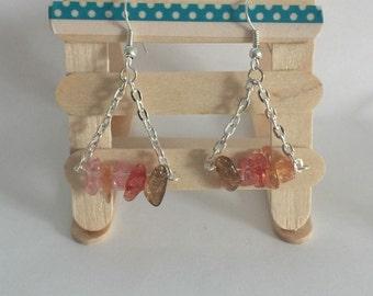 Pink Mountain Bead Earring