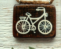 Wooden Bicycle Pendant, heady pendant, pendants for women, luxury jewelry, unique necklaces, handmade jewelry, handcrafted jewelry, wood art