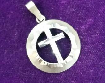 Vintage silver cross pendant