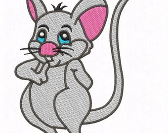 Embroidery * Freddy mouse * 13 x 18 & 2 sizes 10 x 10 frame