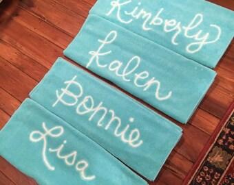 Personalized Sorority Spring Break Towels - Custom Beach Towels