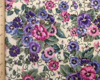 Marcus Brothers fabrics   Pansies
