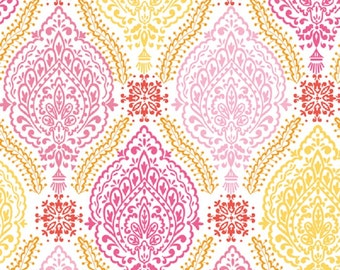 "Dena Designs  FreeSpirit  ""Little Azalea"" Delphine Cotton Fabric in Pink"
