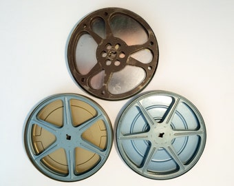 16mm Film Reels and Tins - 7 Inch