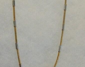 J.H. Gold Silver Tone Choker Necklace