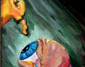 Abstract Art Print - Hot Wax in the Eye