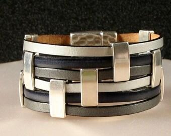 Multi Color Leather Cuff