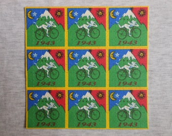 "Blotter Art ""Bicycle Day"" Psychedelic Classic LSD Collection Perforated Paper"