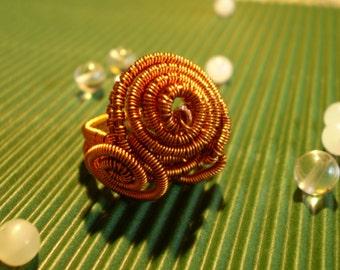 Copper WeavedWire Ring