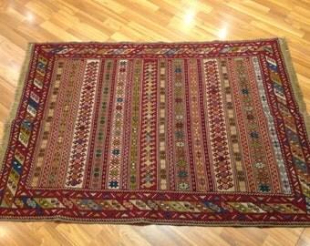 Handmade kilim and embroidery