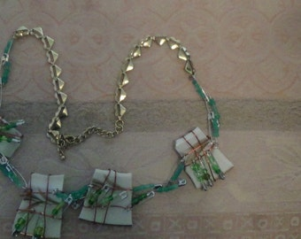 steampunk broken china necklace-7