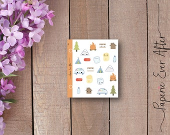 Camping planner stickers, camp planner stickers, 101