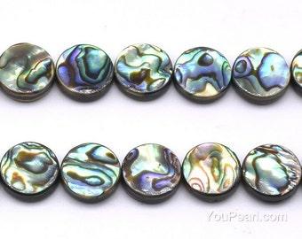 14mm abalone beads, natural round shape abalone paua shell, paua shell strand, loose shell beads for necklace wholesale , ABA1210