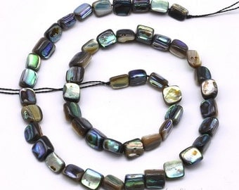 7x8mm, nugget shape paua shell strand, rainbow abalone baroque beads, loose paua shell beads jewelry, girls necklace, ABA1250