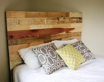 Pallet headboard, reclaimed headboard, wood headboard, wooden headboard, reclaimed wood headboard