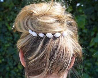 Flower Bobby Pins, Wedding Bobby Pins, Bridesmaid Flower Hair Pins, White Roses Bobby Pins, First Communion bobby pins, Flower Hair Pins