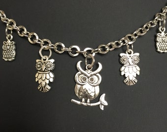 Lovely Owl Charm Necklace