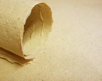 Bagasse Cotton Rag Paper, Handmade, Large Sheet, Watercolour, Drawing, Painting, 56x76cm