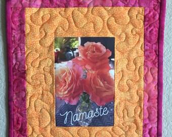Art Quilt-Namaste 1