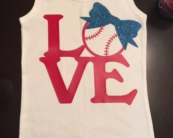 "Girls ""Love"" baseball tank top"