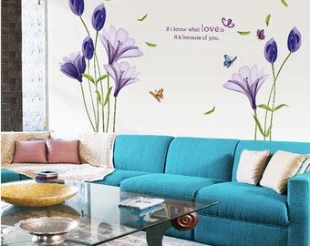 Floral Wall Decal Removable Wall Decal Wall Art Home Decor
