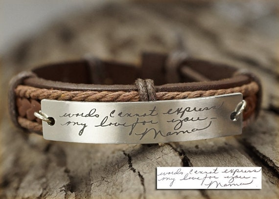Memorial Signature Bracelet Actual Handwriting Bracelet