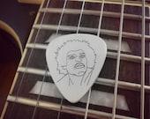 Jimi Hendrix Silver Guitar Pick, Blues Rock, Music Gift, Silver Pick, Guitar Pick, guitar gift, gift for guitarist, guitar plectrum