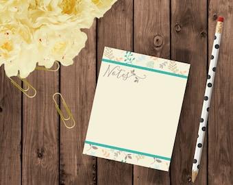 Botanical Notes Notepad