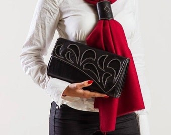 ON SALE Stalish Ladies Leather Clutch designed by DD Bespoke Studio