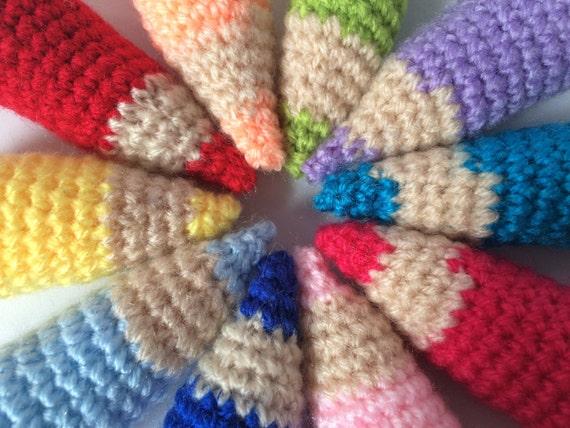 Amigurumi Keychain Loop : Pencil Keychain Crochet Amigurumi Crochet Key Ring