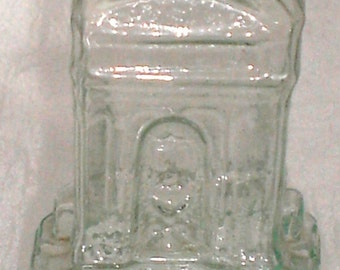 1840-60's Pontiled French Fountain Form FIGURAL COLOGNE Bottle