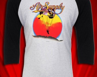 Air Supply Vintage Tour Tee T-shirt Jersey 1982