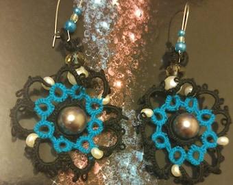 Celestial Lace Tatted Earrings