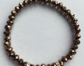 Bracelet Ella Dark Brown Metallic