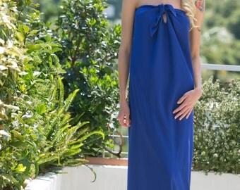 blue strapless dress/skirt