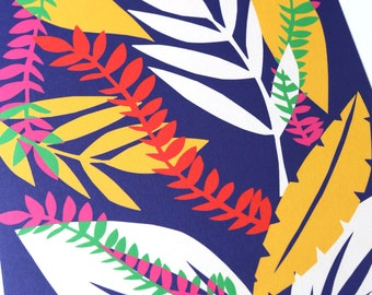 Wall Art Print. Tropical Leaf Print. Minimalist Poster. Prints. Modern Print. Wall Art. Digital Print. Leaf Wall Art. Minimalist.