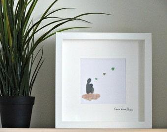 Mother's Love Pebble Art Gift ~ Mother/Mom/Mum Gift ~ Mother's Gift ~ Daughter Gift ~ Special Mother Gift ~ Mom Present ~ New Mum Gift