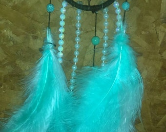 Turquoise and Black Dreamcatcher