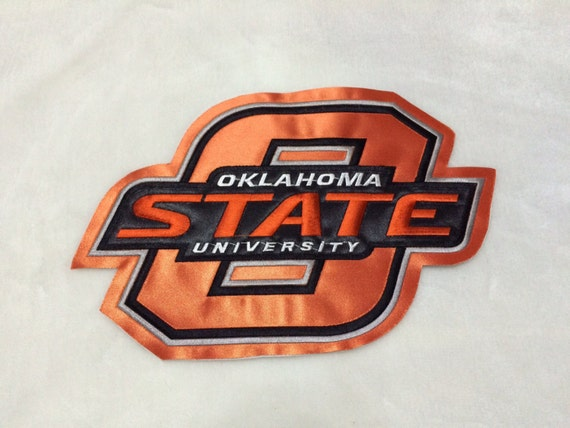 Oklahoma state big high quality embroidered patch by