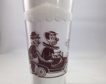 Vintage Brown Circus Train Glass