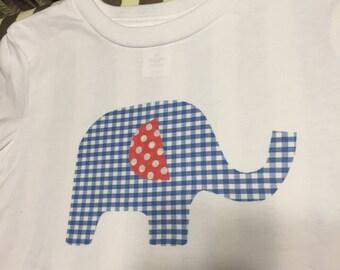 Customizable toddler shirts- elephant, bird, car