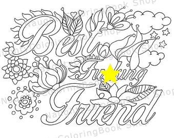 Best Fcking Friend Gift Birthday Printable