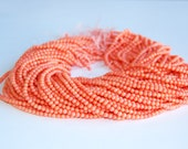 Smooth Round Bamboo Coral Loose Beads For Necklace Or Bracelet Design 4mm.R-S-COR-0347