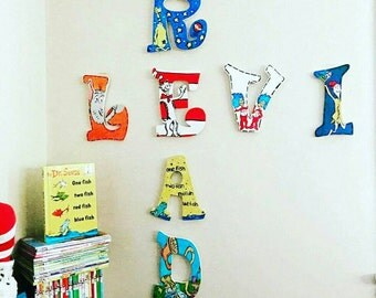 Dr Seuss themed wall letters