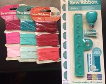 Sew Ribbon tool and 3 ribbon sets - BRAND NEW!